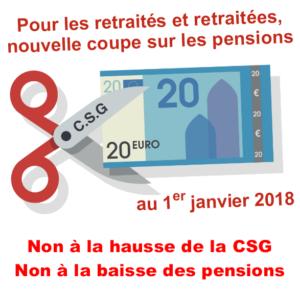 Non A La Hausse De La Csg Non A La Baisse Des Pensions Des